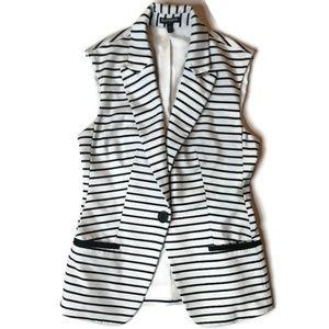 Express Sleeveless Striped Blazer Size XS